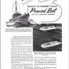 1942 WW II Haskelite Marine Plywwod Ad- Higgins Landing Boats