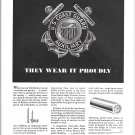 1942 WW II Anaconda Copper & Brass Ad-U S Coast Gurad Auxiliary Theme