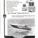 1970 Crowell Bilge Pumps Ad Featuring Racing Boat Boss O' Nova