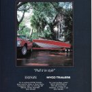 1986 Donzi Marine Color Ad- Donzi Pulled By Mercedes- Benz Car