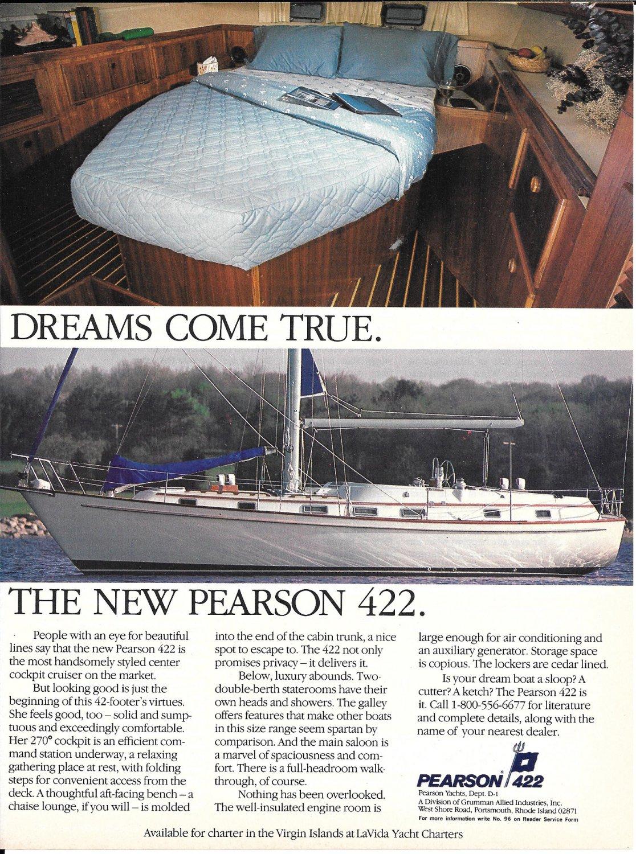 1984 Pearson 422 Yacht Color Ad