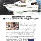 1981 AMF Hatteras 48' Yacht Color Ad