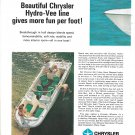1968 Chrysler Boat Company 2 Page Color Ad- 4 Models