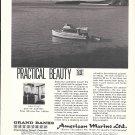 1970 American Marine LTD Ad- Nice Photo of Grand Banks 32 Diesel Cruiser