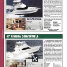 2004 Riviera 37 & 47' Yacht Reviews & Specs- Nice Photos