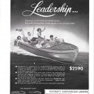 1949 Plycraft Corp Limited Ad- Nice Photo of Grey Phantom Boat