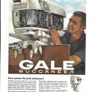 1966 Gale Buccaneer Outboard Motors Color Ad-Nice Photo 35 HP Sovereign