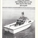 1970 Stamas V-21 Apollo Boat Ad- Nice Photo