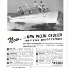 1950 Welin 26' Cruiser Yacht Ad- Nice Photo- Hot Girls
