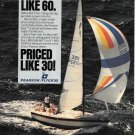 1982 Pearson Flyer 30 Yacht Color Ad- Nice Photo- Specs