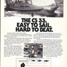 1982 CS 33 Yacht Ad- Nice Photo