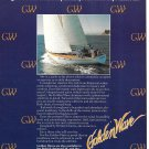 1982 Golden Wave 48 Yacht Color Ad- Nice Photo