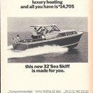 1965 Chris- Craft 32' Sea Hawk Yacht Ad- Nice Photo