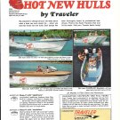 1965 Traveler Boats Color Ad- Nice Photos of 3 Models