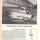 1965 Pembroke Boats Ad- Great Photo