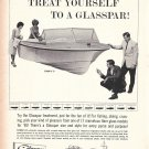 1965 Glasspar Flying V-17 Boat Ad- Nice Photo