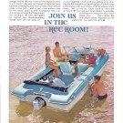 1965 Johnson Seasport Boat Color Ad- Nice Photo- Hot Girl