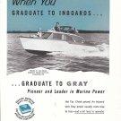 1956 Gray Marine Motor Co Ad- Nice Photo Trojan 25' Sea Breeze Boat