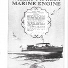 1925 Wright Typhoon Marine Engine Ad- Nice Photo Yacht Corisande