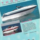 1987 Thompson Boats Color Ad- Nice Photos of Carrera 245 & 198