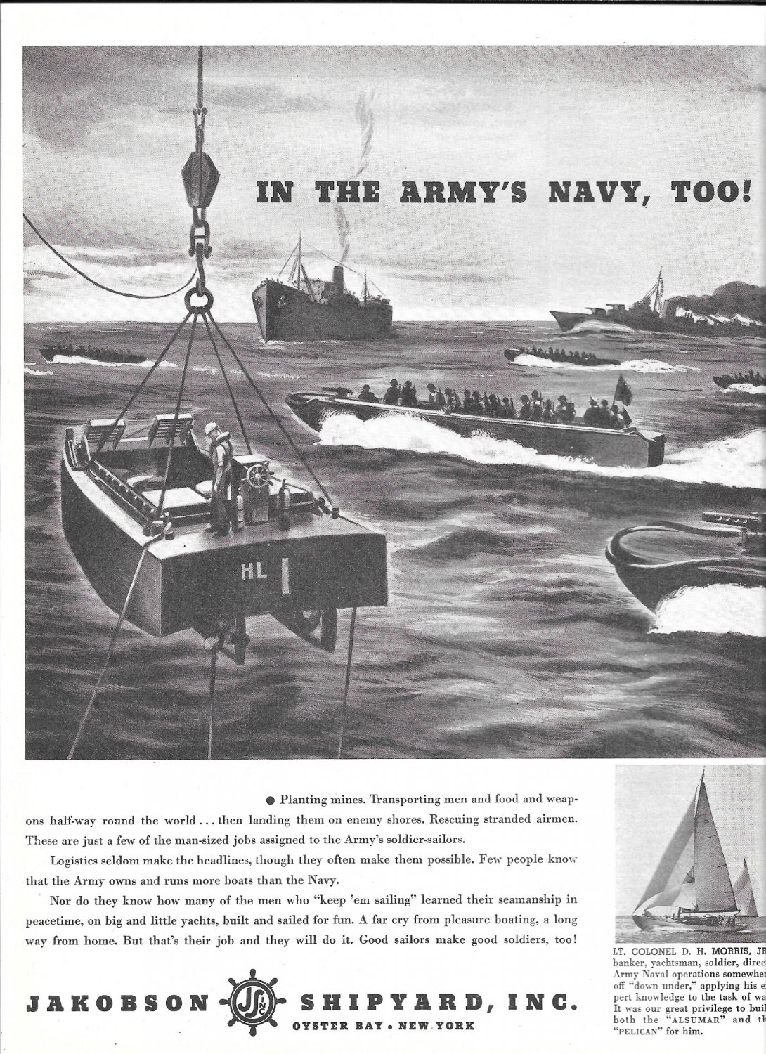 1944 WW II Jakobson Shipyard Ad- Military Boats