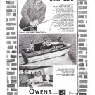 1964 Owens 28' Yacht Ad- Nice Photo of Jimmy Dean & His Owens