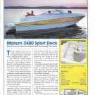 2004 Maxum 2400 Sport Deck Boat Review & Specs- Nice Photo