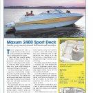 2004 Maxum 2400 Sport Deck Boat Review & Specs- Nice Photo