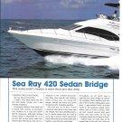 2004 Sea Ray 420 Sedan Bridge Yacht Review & Specs- Nice Photos