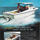 1973 Stamas V-24 Clearwater Yacht Color Ad- Nice Photo- Hot Girl