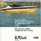 1980 Tahiti Conqueror 28' Cruiser Color Ad- Nice Photo- Hot Girl