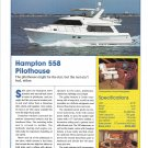 2003 Hampton 558 Pilothouse Yacht Review & Specs- Nice Photo