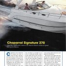 2003 Chaparral Signature 270 Yacht Review & Specs- Nice Photos