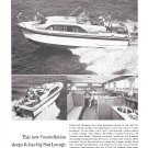 1963 Chris- Craft 30' Constellation Yacht Ad- Nice Photos