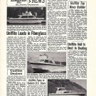 1969 Uniflite Boats Ad- Photos of 31'- 36' & 27' Models
