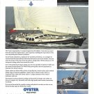1994 Oyster Yachts Color Ad- Photos of 4 Models