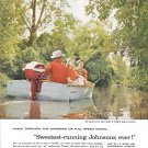 1957 Johnson Sea- Horse Outboard Motors Color Ad- Nice Photo