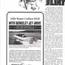 1972 Berkeley Jet Drive Ad-Nice Photo Jolly Roger Cutlass DGB Boat