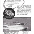 1957 Nordberg Gasoline Marine Engines Ad- Nice Photo 30' Safti- Craft Boat