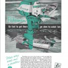 1957 Oliver Outboard Motors Color Ad- Nice Photo 16 HP.