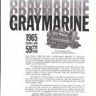 1965 Gray Marine Motor Co Ad- Nice Photo V8