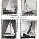 1965 Wayfarer Yacht Corp Ad- Nice Photos of 4 Models