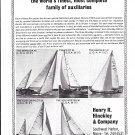 1965 Henry R Hinckley Yachts Ad- Photos of 5 Models
