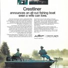 1973 AMF Crestliner Bass Boat Color Ad- Nice Photo