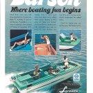 1973 Larson Boats Color Ad- Nice Photo- Hot Girls