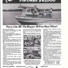 1970 Nauta- Line 28' Houseboat Ad- Nice Photo