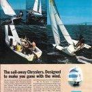 1970 Chrysler Marine Sailboats Color Ad- Nice Photo of 4 Models