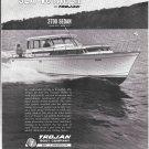 1965 Trojan Boat Company Ad- Nice Photo of Sea Voyager 3700 Sedan