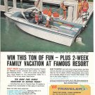 1966 Traveler Boat Company Color Ad- Nice Photo 19' Neptune