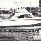 1970 SeaBird V-28 Flybridge Yacht Ad- Great Photo